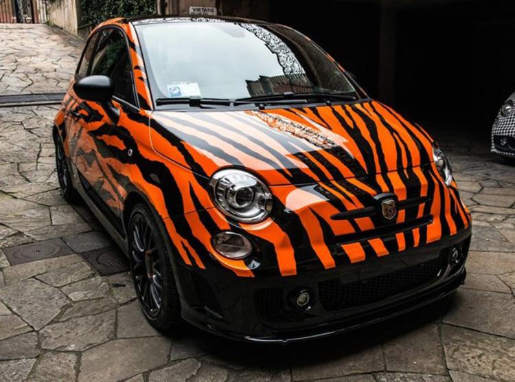 Abarth 500 tiger by lapo elkann autologia for Auto di lapo elkann