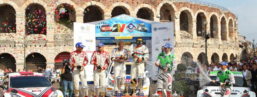 Mitia Dotta, Giandomenico Basso, Anna Andreussi, Paolo Andreucci, Umberto Scandola, Guido D Amore, Cerimonia di Premiazione Campionato Italiano Rally CIR.