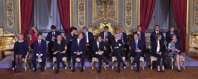 I ministri del governo Gentiloni (ANDREAS SOLARO/AFP/Getty Images)