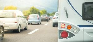 Cars on a highway, traffic jam in summer season